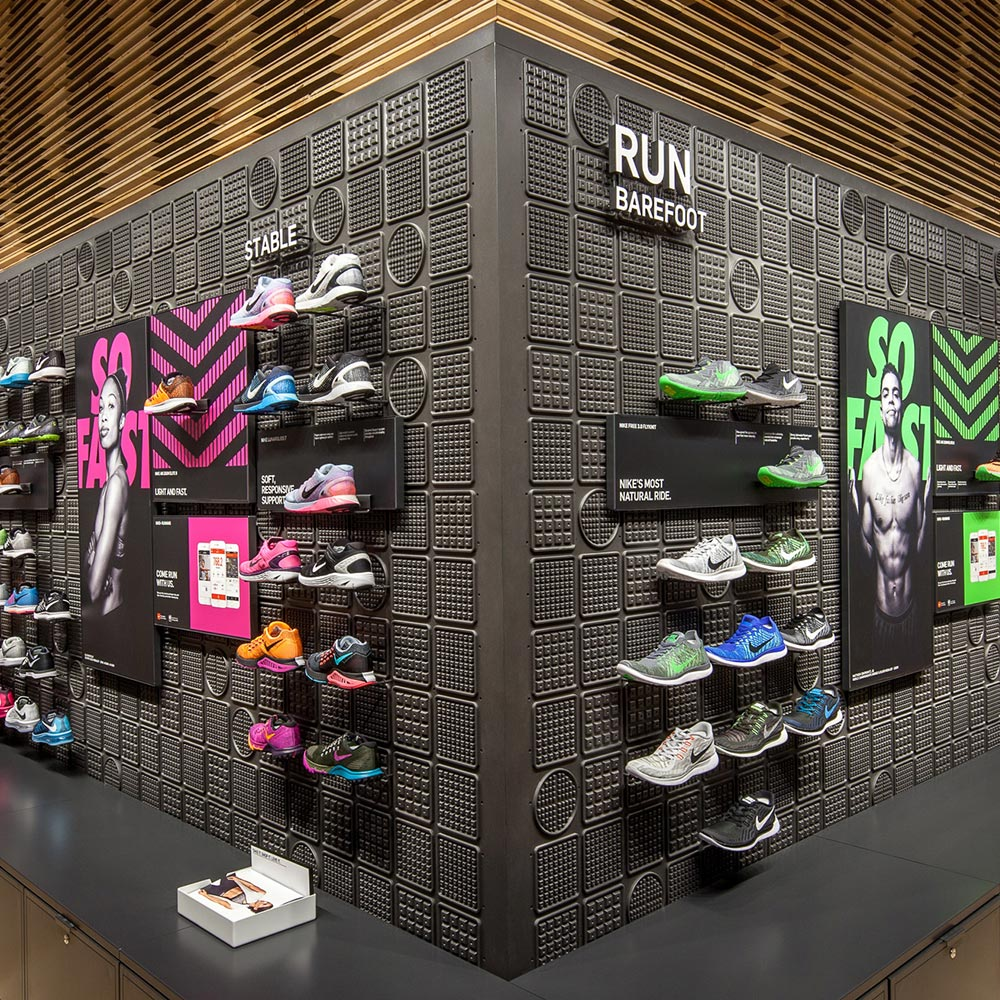 Image of shoe wall display