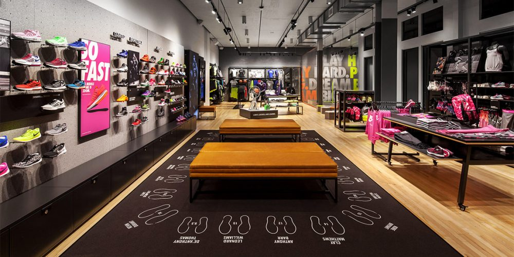Image of youth section of newly-opened Nike store