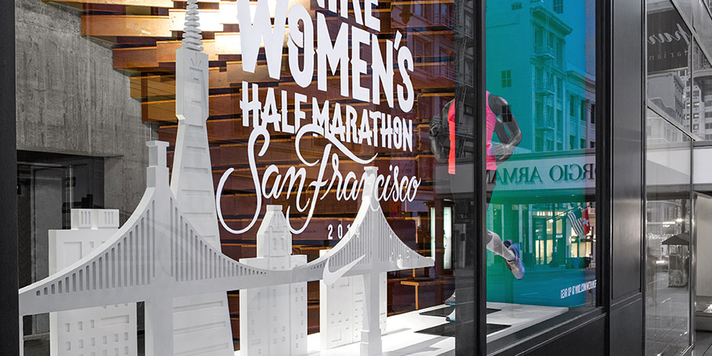 Image of large cut vinyl in retail window